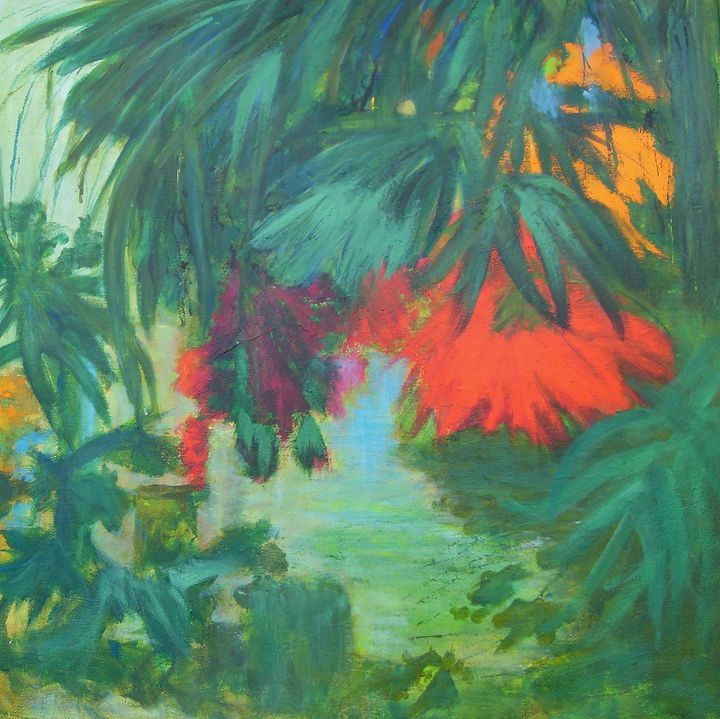 TROPICAL FLOWERS no 1 - Aase Lind Art