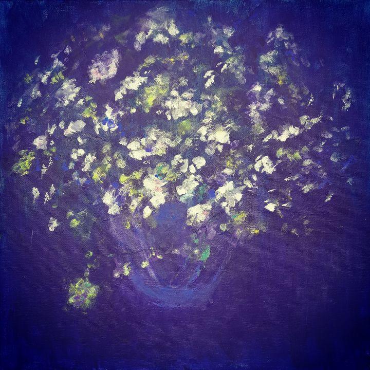 Flowers in Violet II - Aase Lind Art