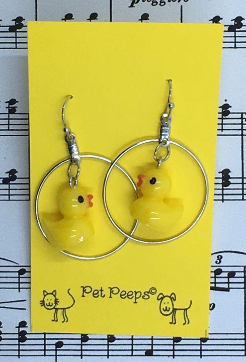 Yellow Ducky Earrings - Silkartist