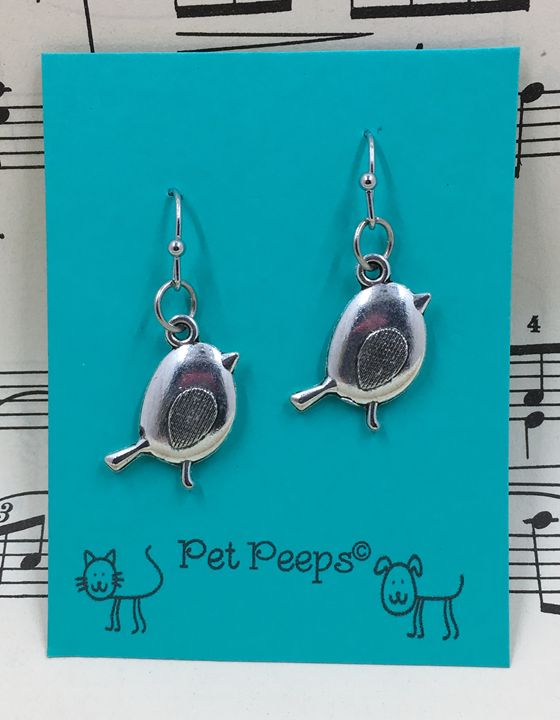 Bird Dangle Earrings - Silkartist