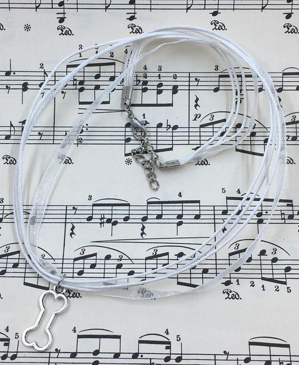 Dog Bone Outline Necklace - Silkartist