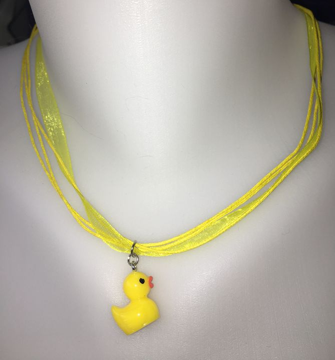 Yellow Ducky Necklace - Silkartist