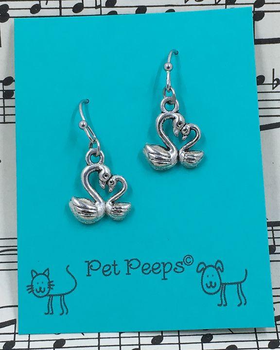 Swan Mother & Baby Dangle Earrings - Silkartist
