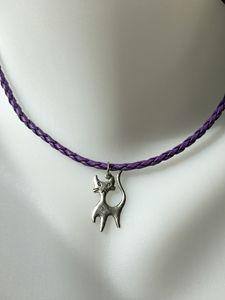 Slender Cat Charm Necklace