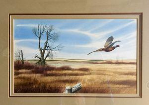 Untitled Orig Pheasant watercolor - Wilson Western art