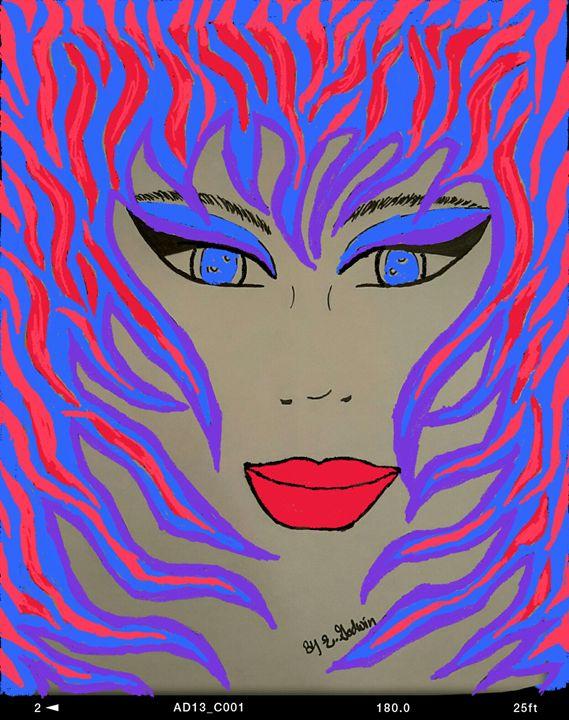 Lady Beauty in Vivid Color - Godwin Gallery