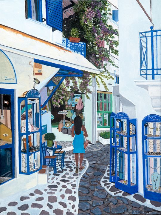 Skiathos Town - John Haynes Art