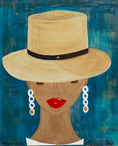 Lady with the Panama hat