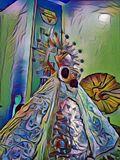 Digital art painting style