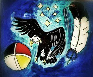 2 faces eagle Wambli