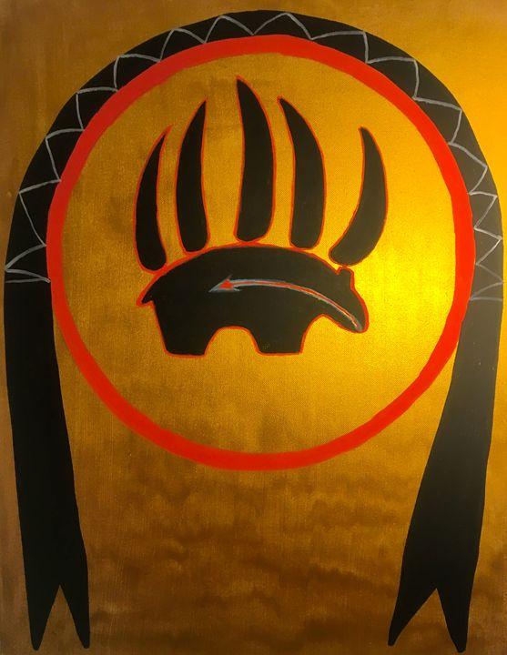 The Black bear shield - Ikce wicasa