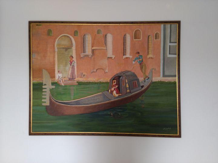Canvas painting (48 inch ×36 inch) - Meera panchani