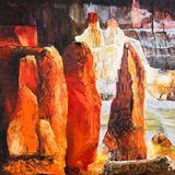 Original Marble Acrylic Painting