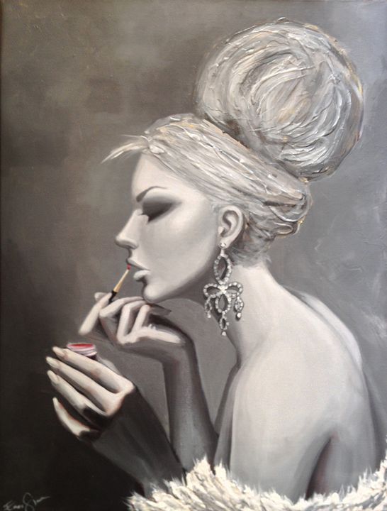 Showgirl getting ready - Art of Emese Simon