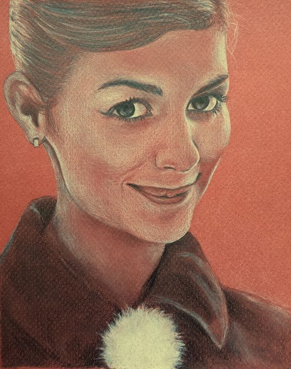 Audrey Tautou - Ebba Portraits & Drawings