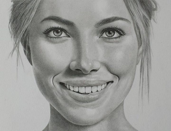Jessica Biel - Ebba Portraits & Drawings
