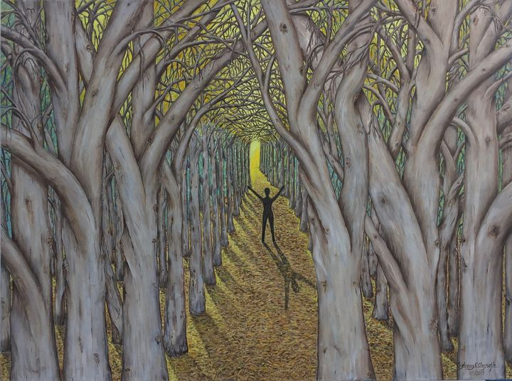 SHADOW in the FOREST - Andreas C Chrysafis Art
