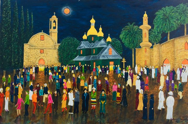 CONGREGATION of COLOUR - Andreas C Chrysafis Art