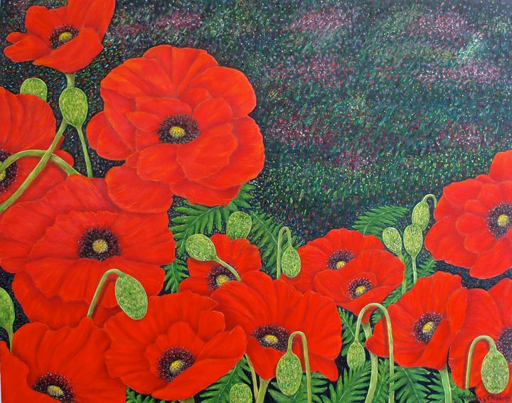 RED POPPIES - Andreas C Chrysafis Art