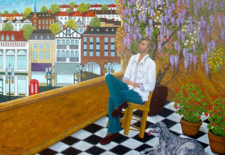 MAN AND HIS DOG - Andreas C Chrysafis Art