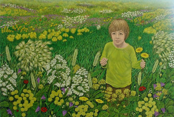 BOY IN THE MEDOW - Andreas C Chrysafis Art