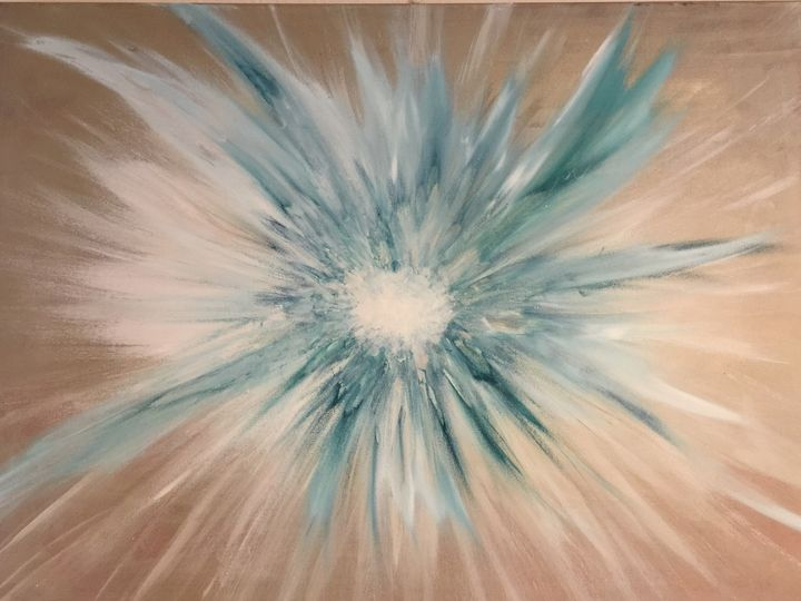 Teal burst - Lynda Law