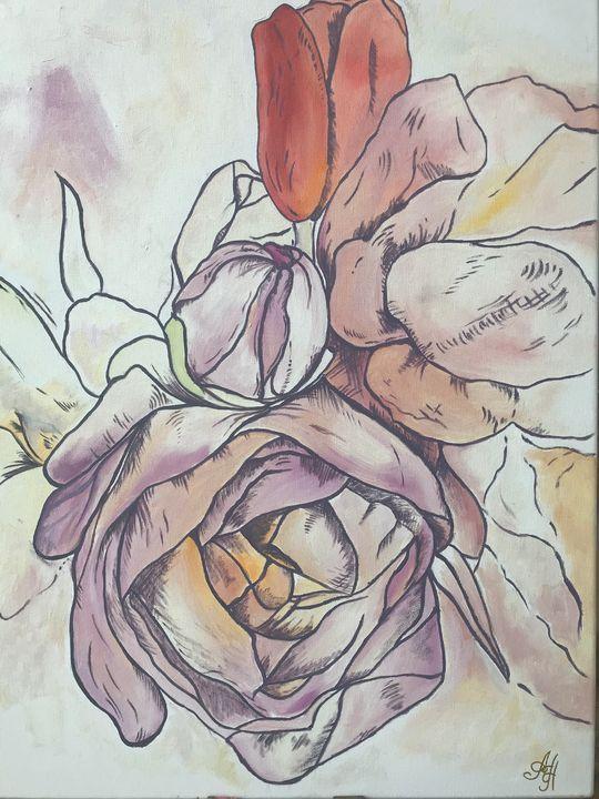 pink peonies - Horova
