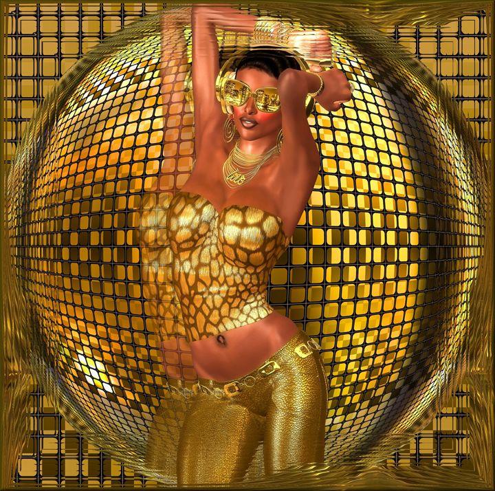 Disco ball dance girl - TK0920