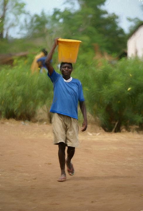 African Water Guy - African Art Images