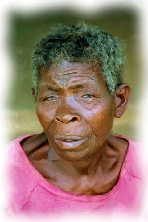 Elderly African Woman - African Art Images
