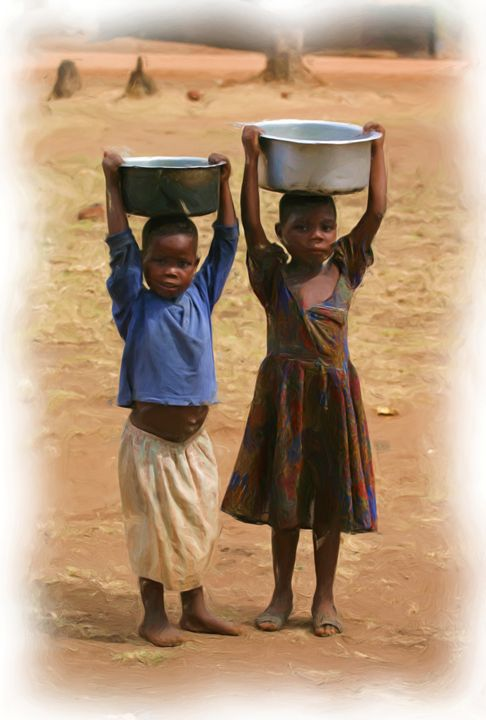 Double Water Supply - African Art Images