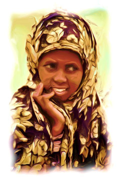 Somali Hesitation - African Art Images
