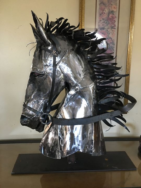 Knight in Shining Armor - Original Metal Sculptures by Gary
