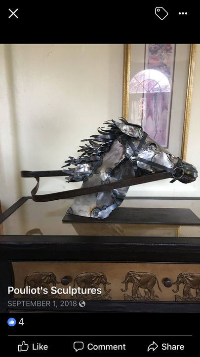 Horse In Motion - Original Metal Sculptures by Gary