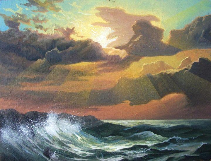 """""""Sea Sunset"""" - Paintings"""