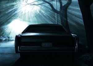 CADILLAC DEVILLE CAR DRAMATIC NIGHT