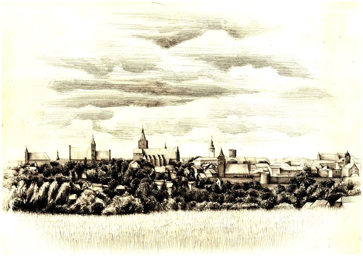 PANORAMA OF A GOTHIC CITY IN POLAND - Łukasz Jan Drygiel