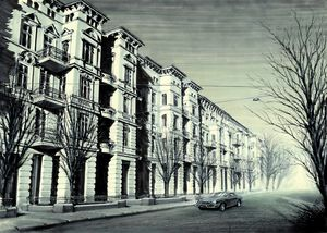 STREET IN EUROPEAN CITY