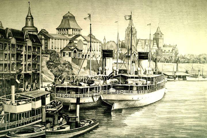 Old harbour city - Łukasz Jan Drygiel