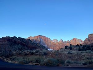 zion in the morning