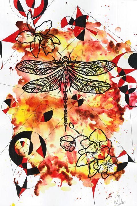 Dragonfly fire - Divine Fractal
