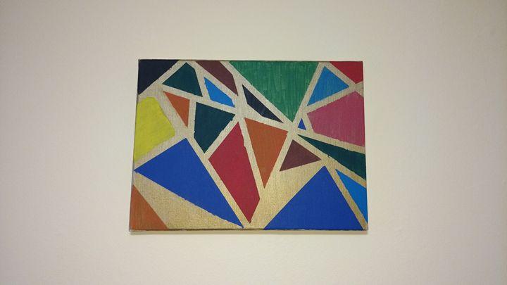 Acrylic geometric wall decor paintin - Amrita