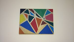 Acrylic geometric wall decor paintin