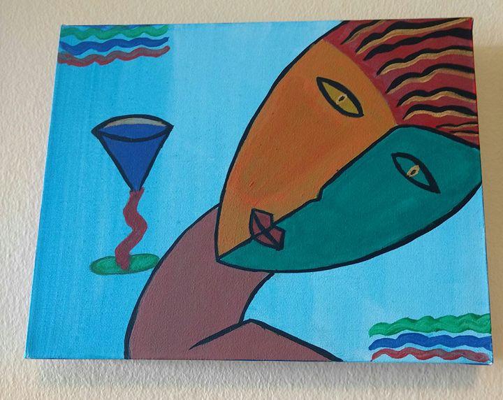 Acrylic painting - Amrita