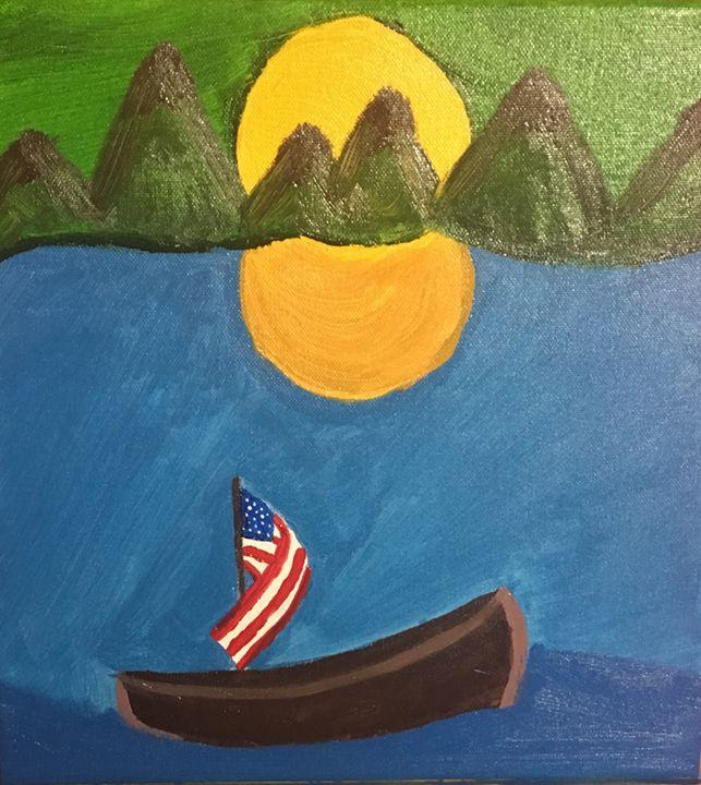 Ol' Glory, at sea. - LizzyDominant