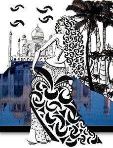Lory at Taj Mahal
