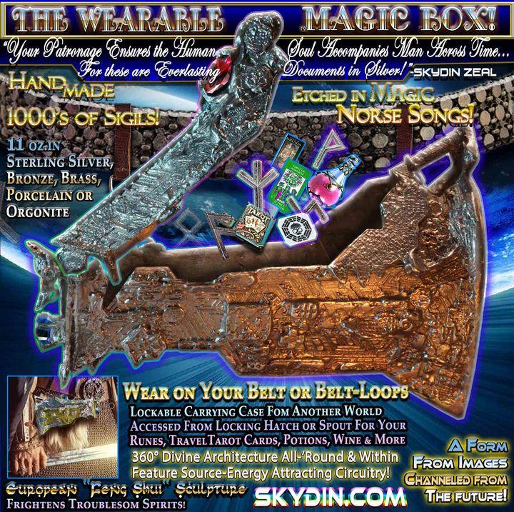 Bronz Futuristic Ancient Etchd Purse - Artifacts Beyond Time