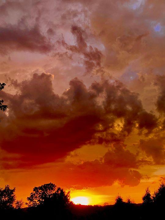 Red evening sky - NatAnat