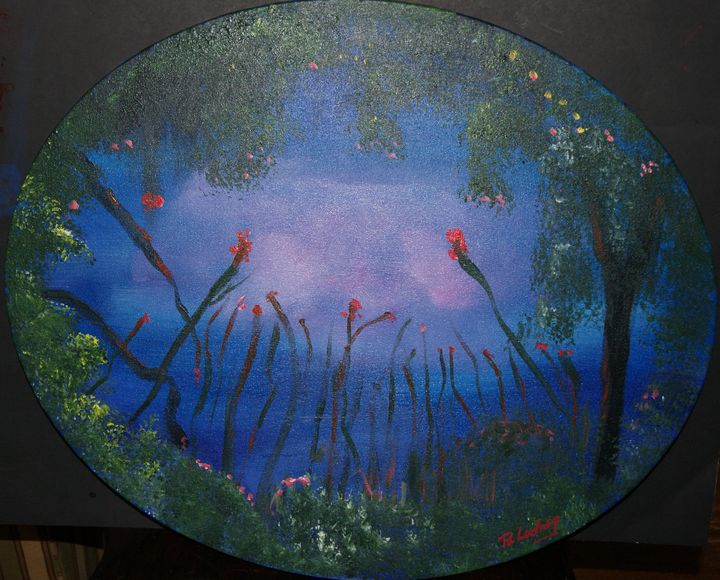 Pond at Dusk - Homemade Arts by Bill Ludwig