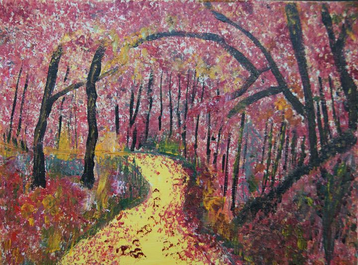 Autumn Walk - Homemade Arts by Bill Ludwig